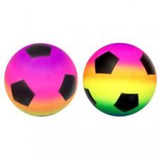Мяч Футбол радужный, 22см в пак. RB171102