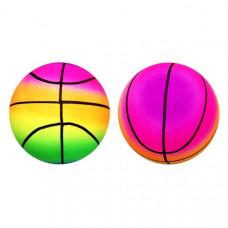Мяч Баскетбол радужный, 22см в пак.  RB171103