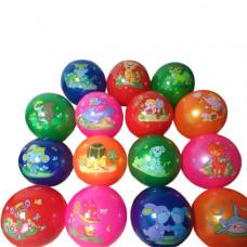 Мяч Животные 22см, с наклейкой, цвет в ассорт. в пак. TP20171206001
